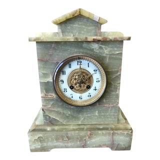 Onyx Art Deco Mantle Clock