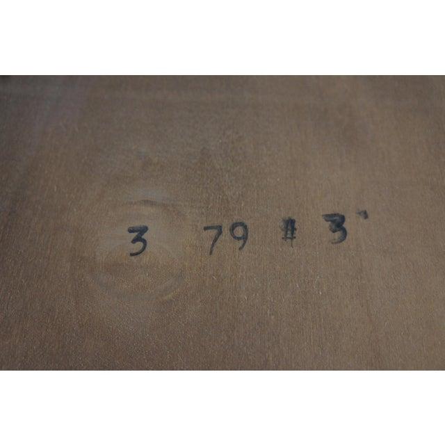 "Wood 1979 Henredon Oak Octogon Shaped Traditional Vanity Dresser Wall Mirror 48"" For Sale - Image 7 of 11"