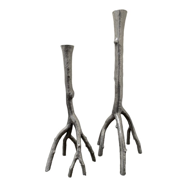 Michael Aram Enchanted Forest Candlesticks - A Pair For Sale