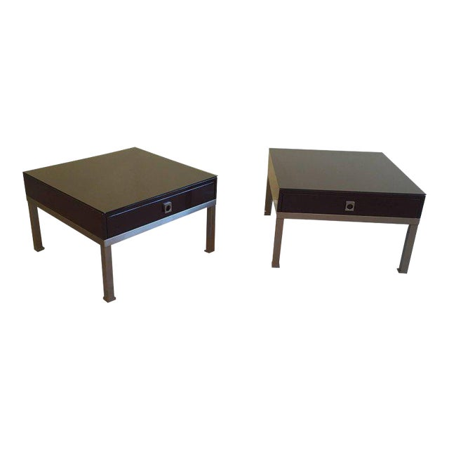 1970s French Pair of Side Tables by Guy Lefèvre for Maison Jansen - Image 1 of 11