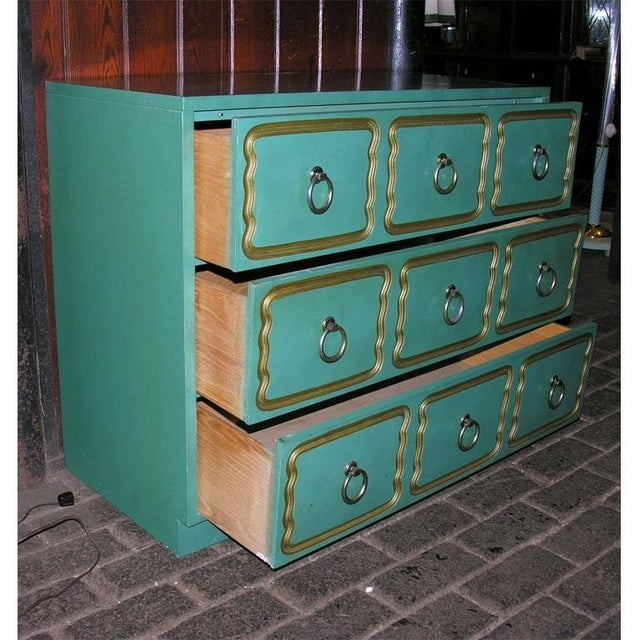 """1950s Classic """"Espana"""" Chests in the Style of Dorothy Draper - A Pair For Sale - Image 5 of 9"""