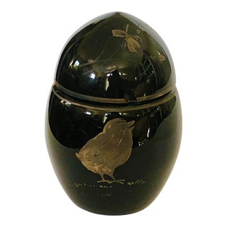 Glass Egg Box With Chick For Sale