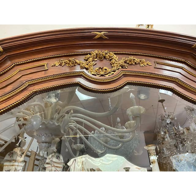 19th Century French Brozne Walnut and Bronze China Cabinet For Sale - Image 4 of 13