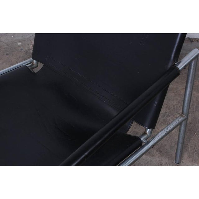 Silver Pair of Leather Lounge Chairs by Martin Visser For Sale - Image 8 of 10