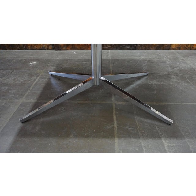 1960s Florence Knoll Walnut on Chrome Base Partner Desk For Sale - Image 5 of 7