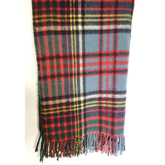 Vintage English Plaid Wool Blanket - Image 5 of 7