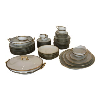 "Theodore Havilland Limoges 'Breton"" China Set - 61 Pieces For Sale"