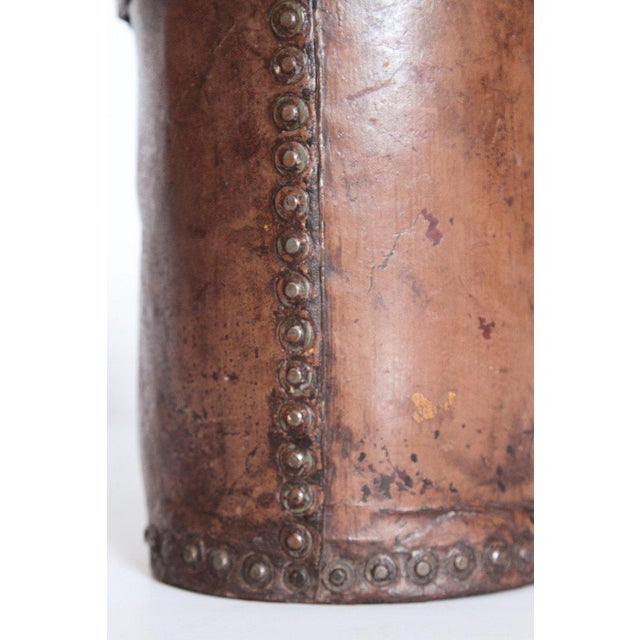 Brown A 19th Century English Leather Fire Bucket For Sale - Image 8 of 13