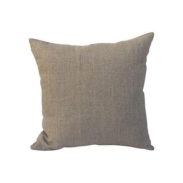 Silk Indigo Dot Pillow - Image 3 of 3