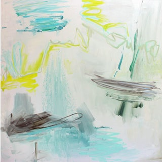 """High Seas"" by Trixie Pitts Large Minimalist Abstract Expressionist Oil Painting For Sale"