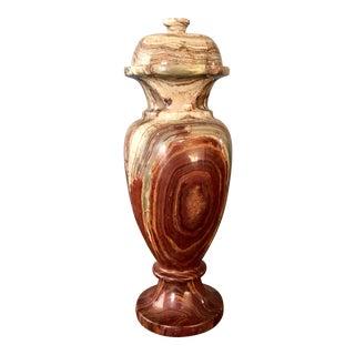Alabaster Lidded Vase