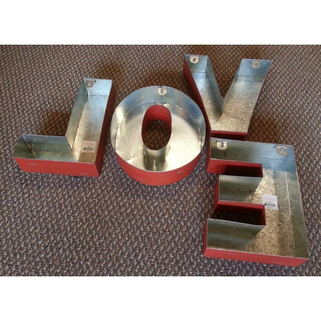 "Industrial Metal Hanging ""Love"" Letters - Set of 4 - Image 6 of 7"