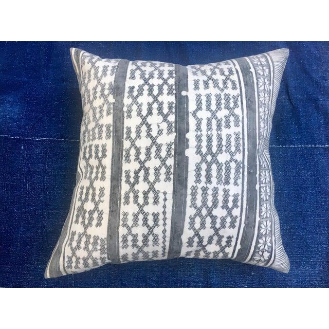 Silver Tribal Batik Pillows - A Pair - Image 7 of 7