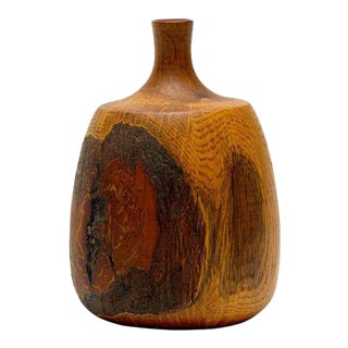 Oak Vase by Rude Osolnik For Sale