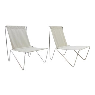Pair of Verner Panton Bachelor Chairs, 1960's - New Canvas For Sale