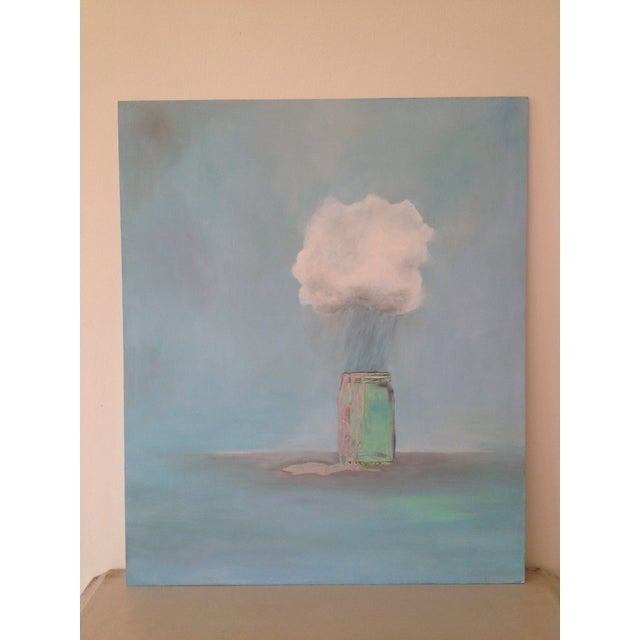 """Rain Catcher"" Oil Painting by Natalie Mitchell For Sale In San Francisco - Image 6 of 6"