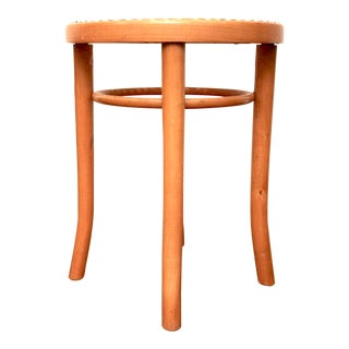 Thonet Bentwood & Cane Stool For Sale