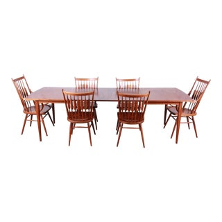 Kipp Stewart for Drexel Declaration Mid-Century Modern Walnut Dining Set For Sale
