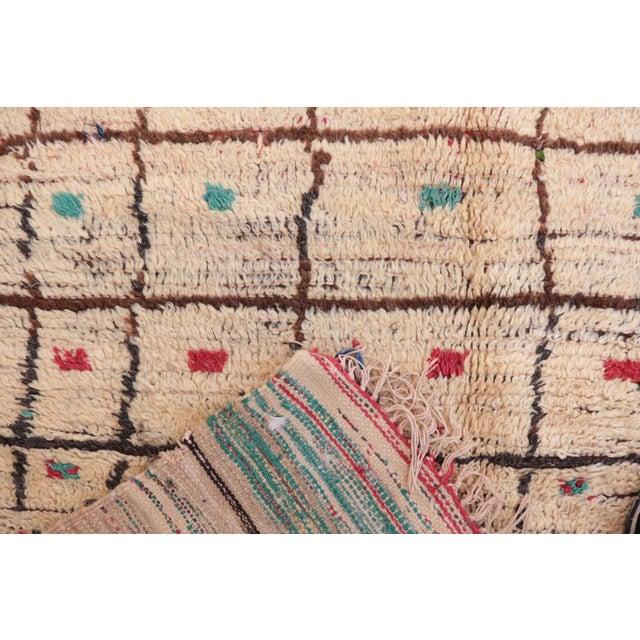 "Vintage Azilal Moroccan Rug - 4'2"" x 8'2"" - Image 3 of 4"