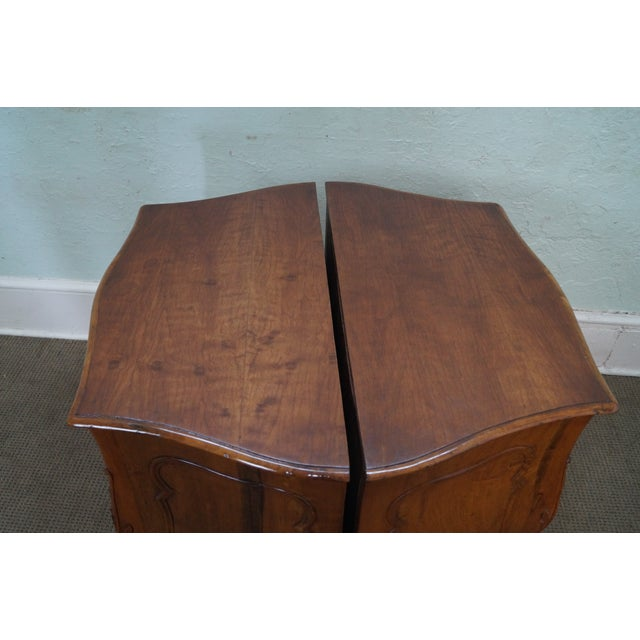 Brown Vintage Carved Italian Bombe Chests - Pair For Sale - Image 8 of 10