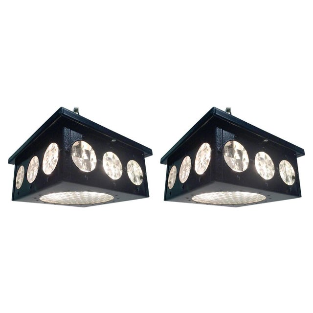 1960s Flush Mount Fixtures - A Pair - Image 1 of 5