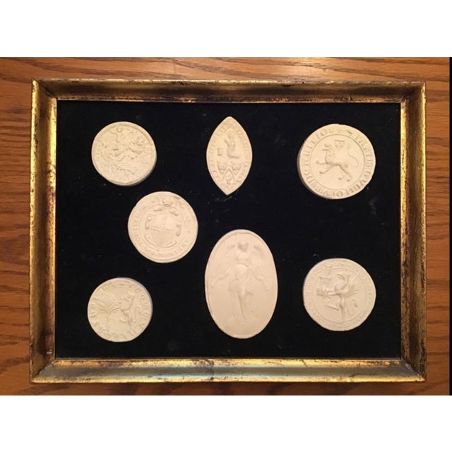 Italian Grand Tour Intaglios in Frame. 7 Intaglios For Sale - Image 10 of 11