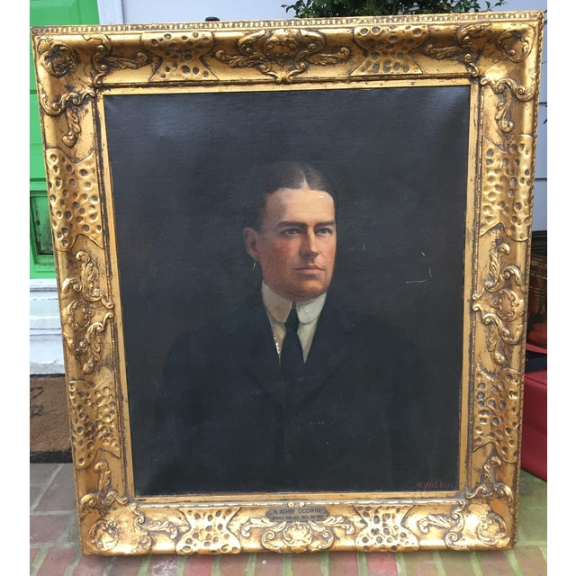 Portrait of Stately Business Man, Early 1900's For Sale - Image 11 of 11