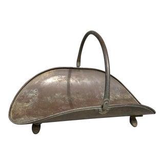 Vintage French Copper Gathering Basket For Sale