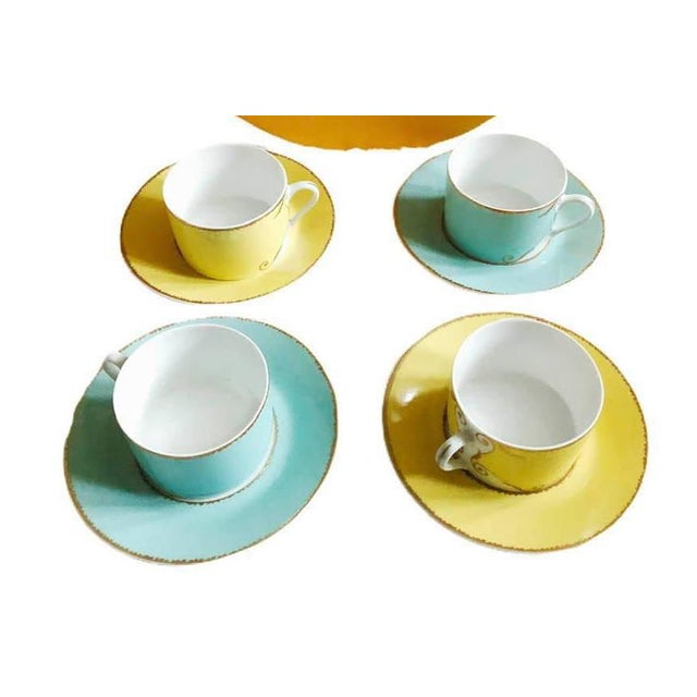 """Christian LaCroix Paris """"Follement"""" Coffee Tea Set, France - Set of 4 For Sale - Image 13 of 13"""