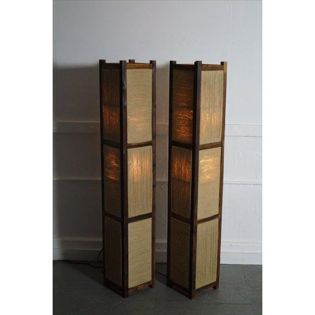 Asian Arts & Crafts Kojima Style Floor Lamp - Pair - Image 3 of 10