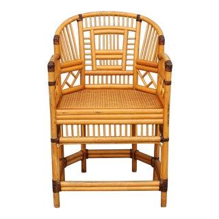 Vintage Palm Beach Regency Rattan Armchair