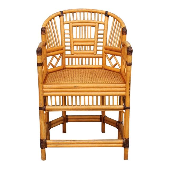 Vintage Palm Beach Regency Rattan Armchair For Sale