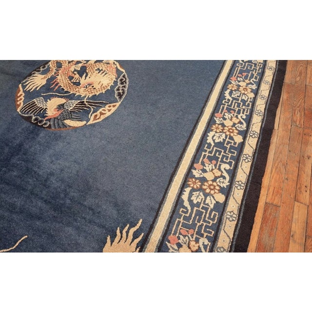 """1910s Antique Chinese Peking Rug 7'0"""" X11'8"""" For Sale - Image 5 of 9"""
