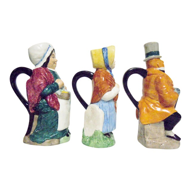 Wood & Sons England Dickens Character Pitchers - Set of 3 For Sale