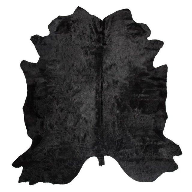 Contemporary Black Cowhide Rug - 7′ × 8′ For Sale - Image 3 of 4