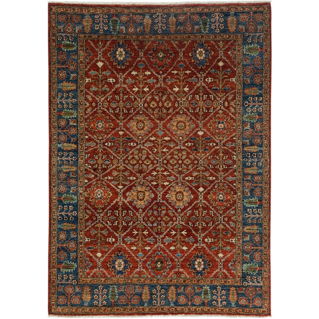 "Ziegler Hand Knotted Area Rug - 5'1"" X 7'1"" For Sale"