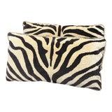 Image of Pair of Clarence House Zebra & Rose Tarlow Silk Velvet Pillows For Sale