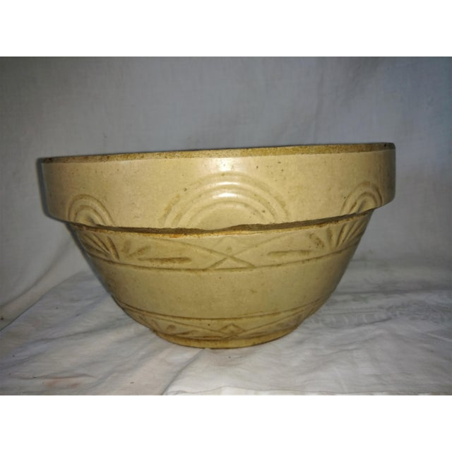 Yellow Antique 19th Century Primitive Yellow Stoneware Bowl For Sale - Image 8 of 8