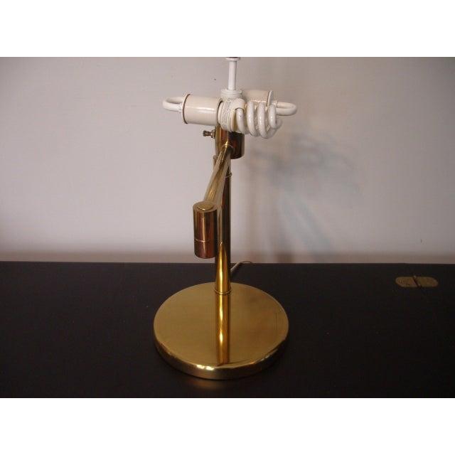 Brass 1960s Mid Century Modern Walter Von Nessen for Nessen Lighting Swing Arm Desk Lamp For Sale - Image 7 of 12
