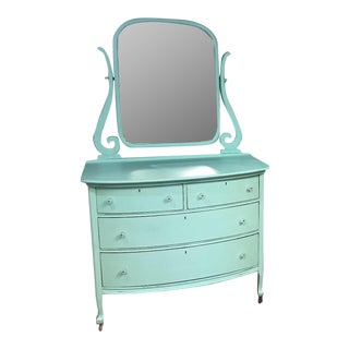 Jadeite Green Antique Dresser with Mirror