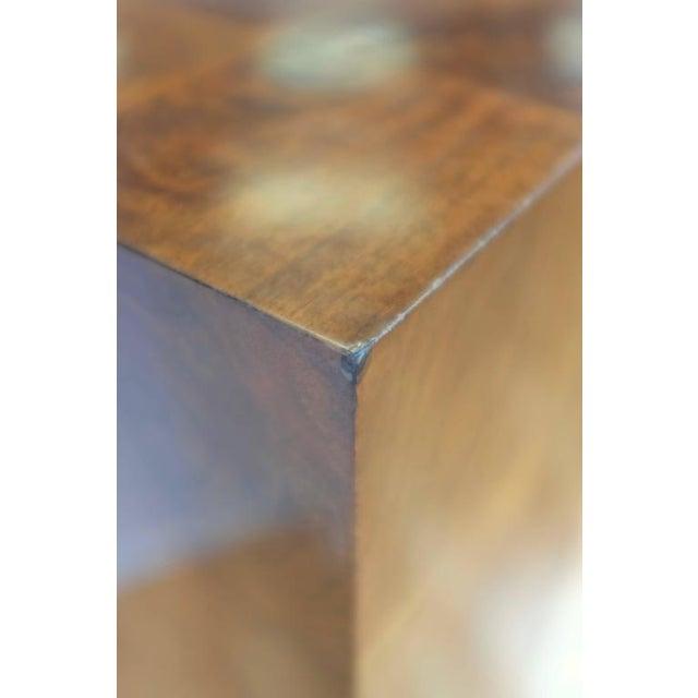 Vintage Milo Baughman-Style Architectural Walnut Pedestal For Sale - Image 10 of 10