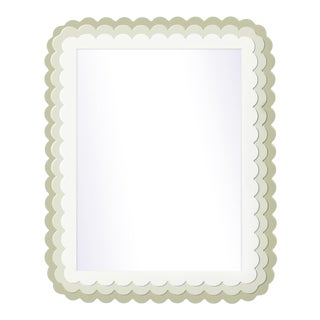 Fleur Home x Chairish Carnival Krewe Rectangle Mirror in Cooking Apple Green, 36x48 For Sale