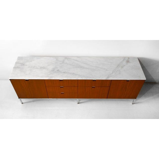 1960s Credenza, Teak & Marble by Florence Knoll For Sale - Image 5 of 6