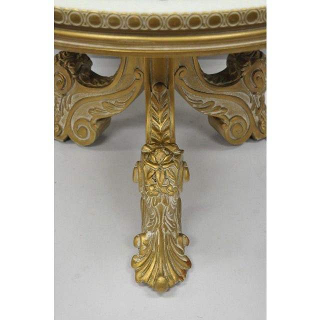 Mid 20th Century Vintage Mid-Century French Rococo Style Coffee Table For Sale - Image 5 of 12