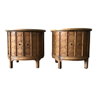 1960s Hollywood Regency Tomlinson Cabinet-a Pair For Sale
