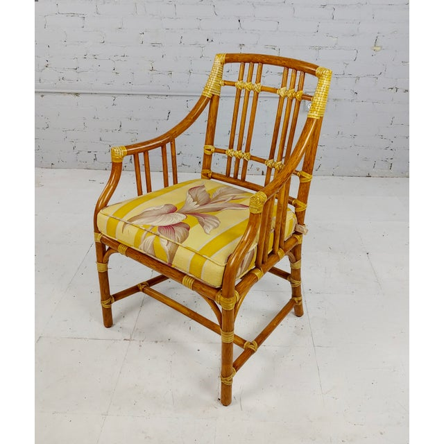 Vintage McGuire Rattan Dining Chairs - Set of 4 For Sale - Image 4 of 11