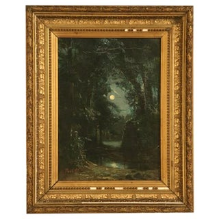 French Landscape Painting by Hippolyte Pradelles For Sale