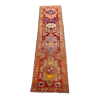 1960s Vintage Turkish Oushak Rug - 2′9″ × 10′4″ For Sale
