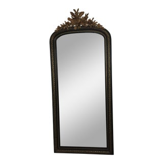 1800s Traditional Black and Gold Full/Floor Length Wall Mirror