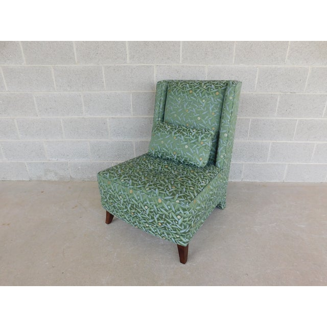 Baker Regency Style Slipper Chair For Sale - Image 13 of 13